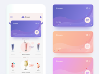 Free app concept cocktail mobile color card principle sketch prd animation app free