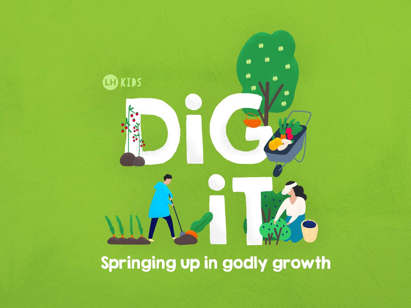 Dig It kids illustration typography vector illustration sermon title sermon series sermon art kids sermon church