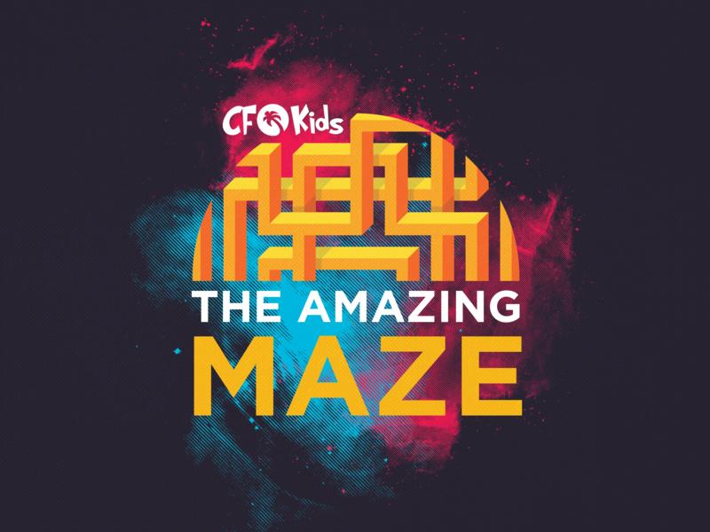The Amazing Maze kids illustration typography vector sermon title sermon series kids sermon illustration sermon art church