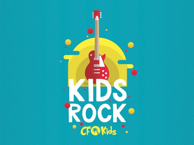 Kids Rock kids illustration typography vector sermon title sermon series sermon art kids sermon illustration church