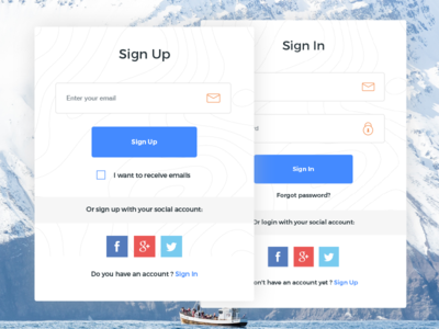 Sign Up & Sign In ( FREE Template )