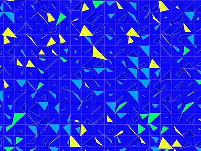 Triangles pattern - Rebound design minimalist vector blue animation