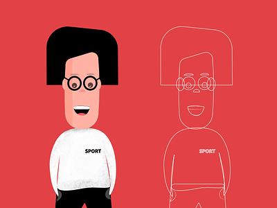 Character Illustration drawing ipad affinity vector character illustration