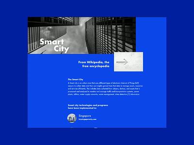 Landing Page #adobexd #protopie test animation video scroll blue graphics parallax landing page minimalist protopie adobe xd