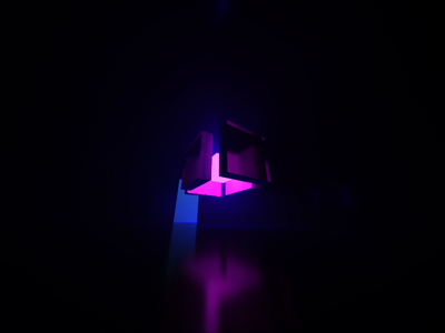 #Boxes #Lights #MagicaVoxel cube shadow lights 3d voxel magicavoxel