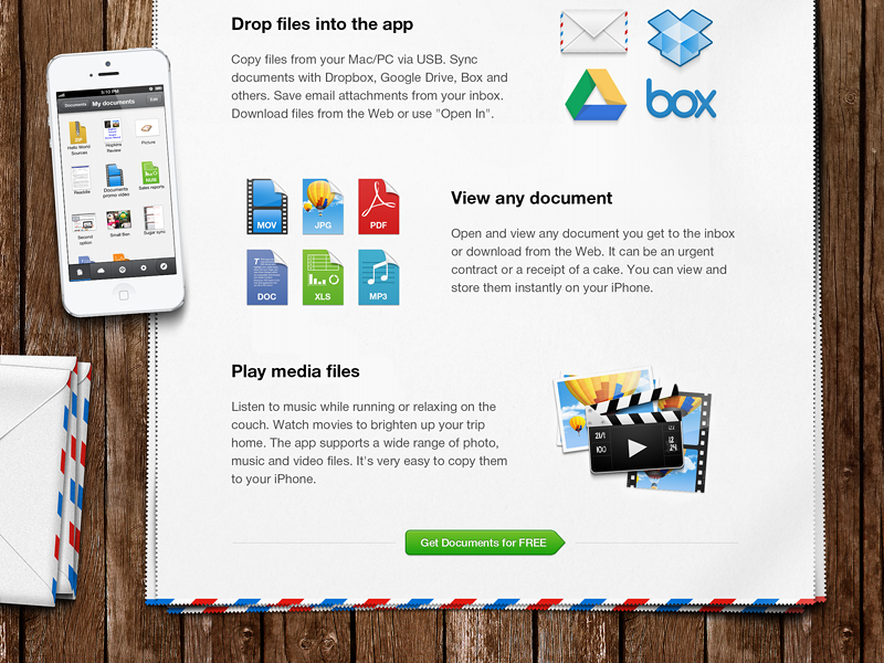 Documents - Newsletter apple device readdle iphone documents doc application dropbox mail newsletter paper ios pdf