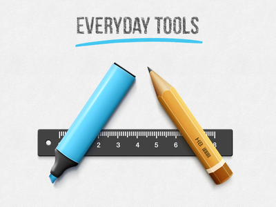 Everyday Tools readdle tool pencil permanent marker remark line ruler paper illustration