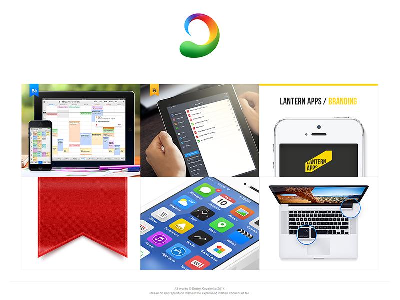 My ProSite portfolio landing page web ipad iphone device grid behance macbook mockup ios