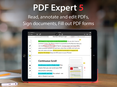 PDF Expert 5.1 - Artworks readdle pdf expert ipad artwork iphone app application annotate itunes appstore ios