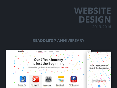 Website Designs 2013-14 website landing design mobile web ios app readdle ipad desktop behance iphone