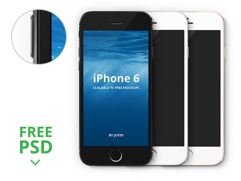 Iphone 6 Scalable Mockups 4 7 Photo Template Ios8 Vector Mockup Psd Free Gold
