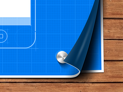 Blueprint - teaser blueprint sketch iphone paper wood desk teaser preview