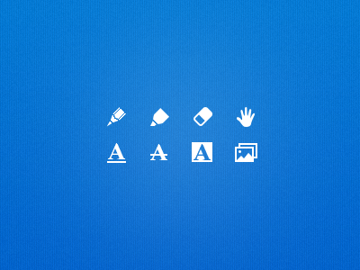 Icons for Remarks App icon pixelart shape pencil permanent eraser hand annotation highlight photo picture application remarks readdle