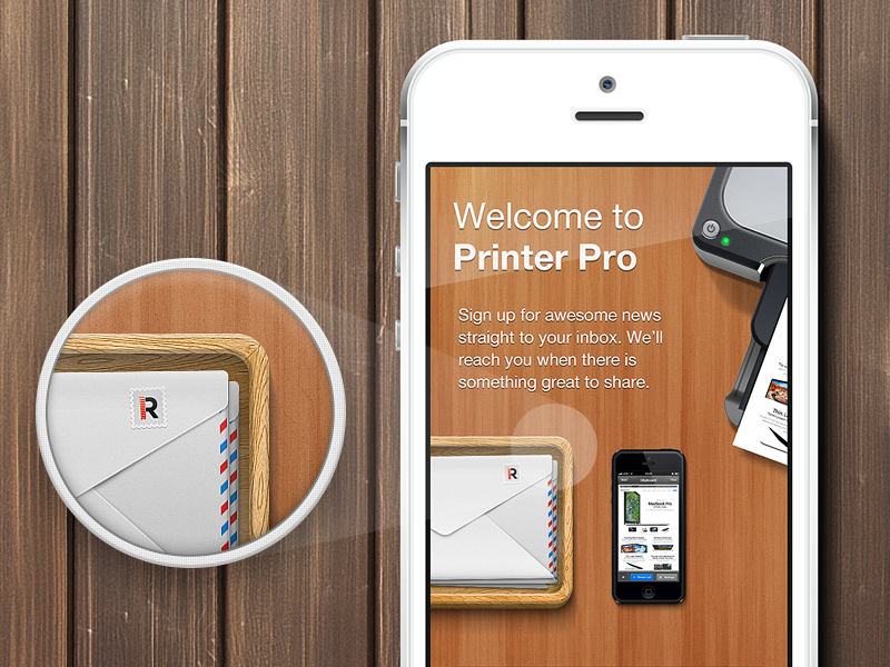 Printer Pro - New Sign Up Dialog readdle dialog app application print screen iphone wood mail subscribe submit printer pro sign up