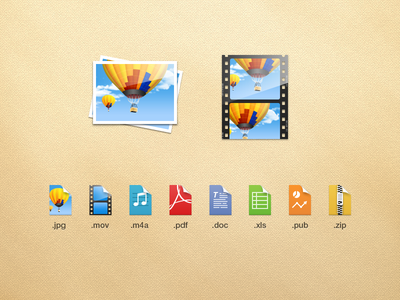 Documents - File Types icons documents readdle file type image picture movie mov jpg audio sound pdf text doc publisher sreadsheet zip archive video