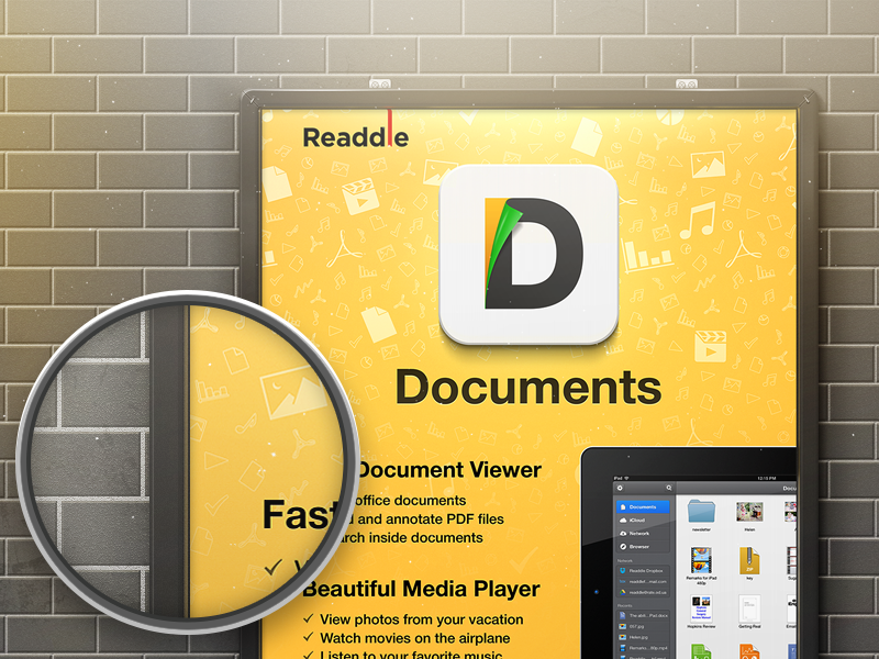Documents - First look on Macworld 2013 documents readdle application app ipad apple promo macworld poster iworld