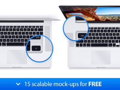 MacBook Pro - 15 Scalable Mock-ups laptop download free psd vector lossless scalable apple device notebook mockup mock-up pro macbook