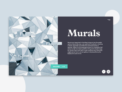 Murals - Landing Page product design visual design landing page minimal ui web website landing