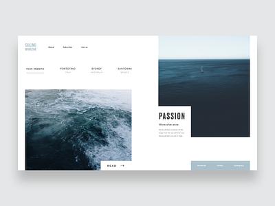 Sailing Magazine ~ Landing Page product design visual design landing page ux sailing nordic minimal ui web website landing