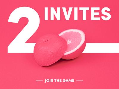 2 invites! get invite dribbble invite first shot fruit invitation invite debut