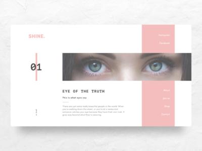 Shine ~ Landing Page