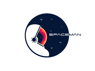 Spaceman Logo illustration spaceshuttle nasa brand explore star astronaut space spaceman logo