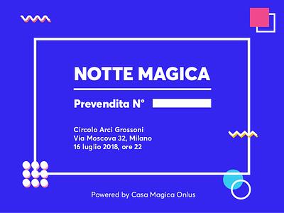 Invitation Card geometric blue pattern pop party invitation card