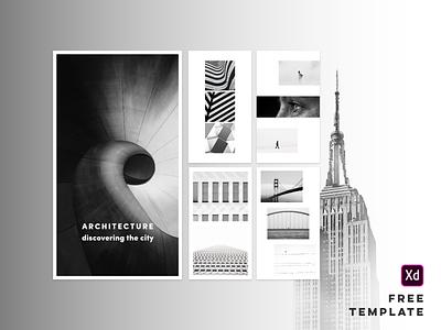 Free Template - Adobe XD layout design theme xd ui stories free instagram template adobe adobe xd