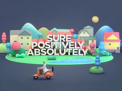 Absolutely, Positively, Sure. illustration neighborhood