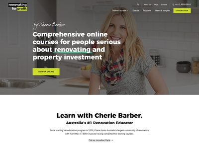 Renovating For Profit Home typography concept photoshop ux web design ui minimal website homepage user interface user experience