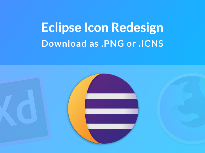 macOS Style Eclipse Icon Redesign by Siraj Chokshi on Dribbble