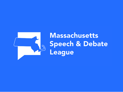 Massachusetts Speech and Debate League Logo design branding logos msdl tournament logo debate massachusetts