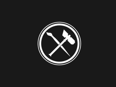 Manhammer Studios Logo branding mark logo design design logodesign logo studio painting