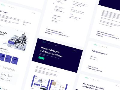 Personal Portfolio freelancer portfolio personal minimalist design clean web ui