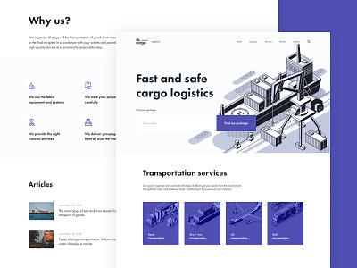 TLS Cargo logistic shipment cargo minimalist design clean web ui