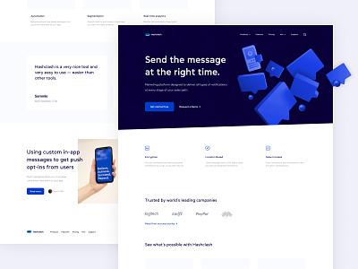 Marketing website concept blog push marketing ux minimalist design clean web ui
