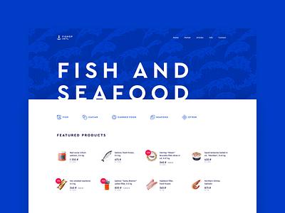 Seafood ecommerce website product fish seafood minimal ecommerce ux creative minimalist design clean web ui