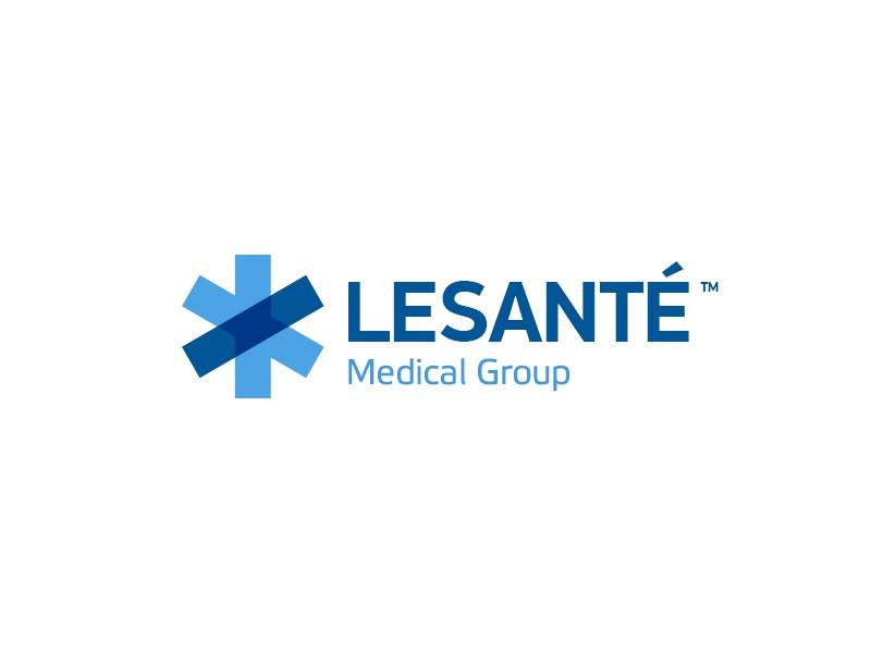 leSanté Logo minimal asterisk medicine identity logo