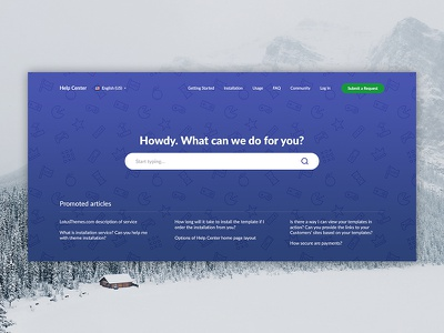 Theme for Zendesk [WIP] zendesk search pattern image hero design web ui