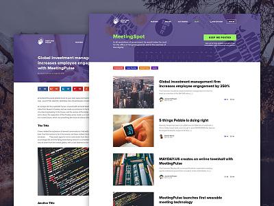 Meeting Pulse - Blog green purple web ui news post blog pulse meeting