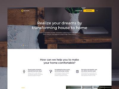 Decoretti — Landing Page [WIP] studio minimalist home landing interior web ui design clean agency