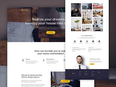 Decoretti — Home Page ux web ui studio minimalist landing interior home design clean agency