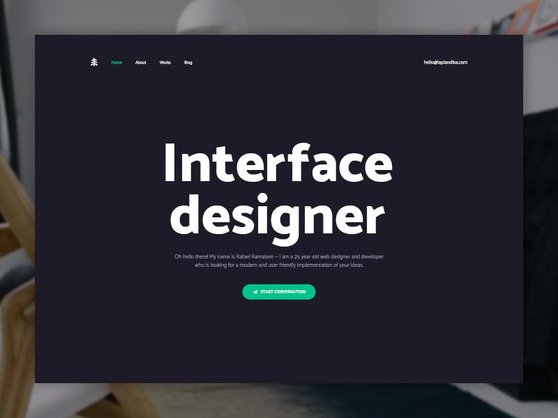 Personal Website — Home Page portfolio personal creative page web ux ui minimalist landing home design clean