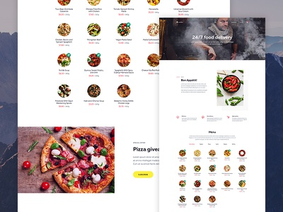 Lunchbox (Remastered) — Landing Page web ux ui delivery food page minimalist landing home ecommerce creative clean