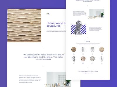 Interior & Furniture Store interior sculpture decor studio ecommerce ux landing creative design minimalist clean web ui