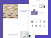 Interior & Furniture Store interior sculpture decor studio ecommerce ux landing creative design minimalist clean web ui