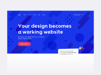 Web service header agency home ux design creative web ui
