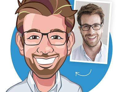 Avatar design based on a photo characterdesign avatardesign gif cartoon avatars character design illustration avatar