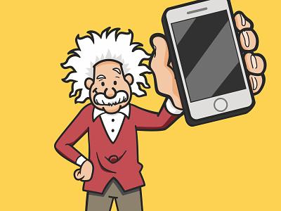 Einstein 2 branding einstein cartoon identity illustration design character avatars avatar