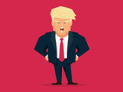 Donald Trump Illustration clinton hillary avatar illustration donaldtrump trump